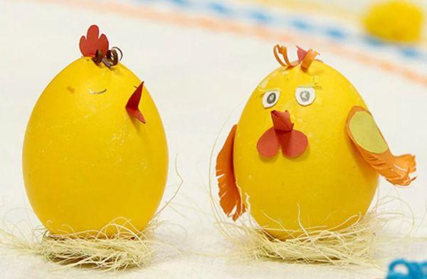 Яйцо-поделка: цыпленок