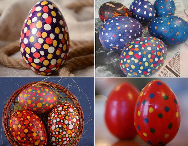 Крапанки воском покраска яиц