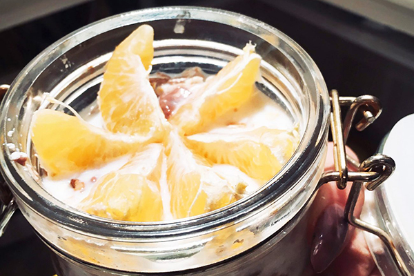 Ленивая овсянка с апельсиином