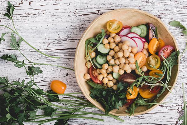 Салат из продуктов, богатых калием