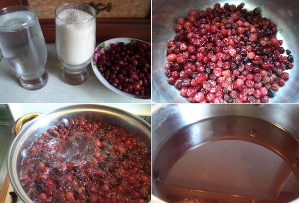 Приготовление напитка из ягод
