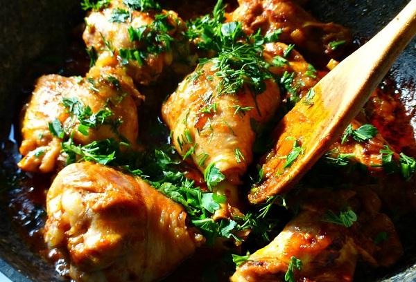 Жаркое из курицы (четлибж)